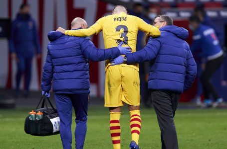 Barcelona Pique leaves game with knee injury