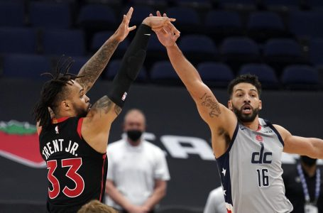 Trent's 3-pointer beats buzzer as Raptors rally past Wizards