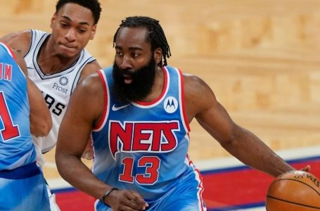 James Harden has 18 points, 11 rebounds in return for Brooklyn Nets but Kyrie Irving misses win